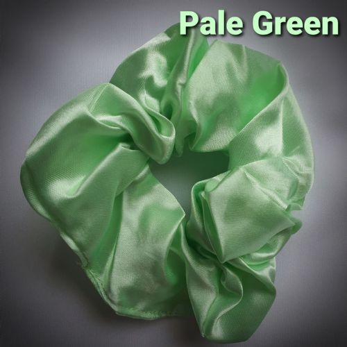 Pale Green Satin Scrunchie